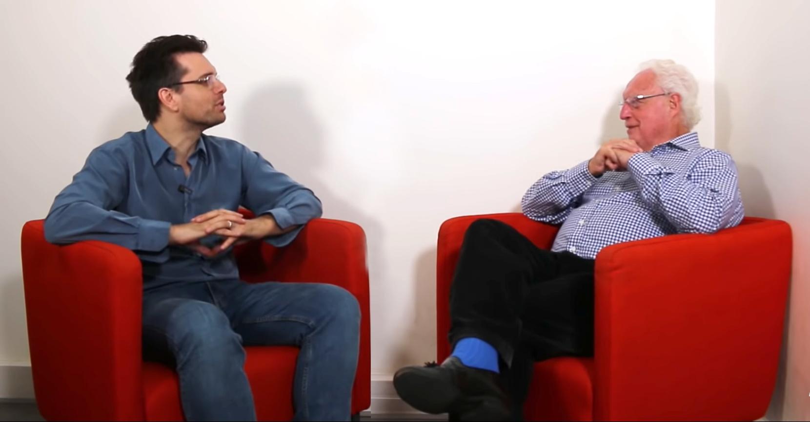 Charles Gave de la société Gavekal & Richard Détente de la chaîne Youtube Grand Angle discutent amicalement à propos de la bulle obligataire et de ses risques